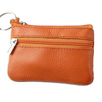 Wholesale 2012 female small coin purse card holder key wallet women s genuine leather small fresh cowhide