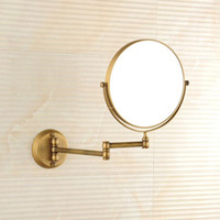 Wholesale Modan antique bathroom make up mirror folding bathroom magnifying glass bathroom telescopic folding