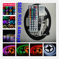 Wholesale Christmas m roll SMD RGB LED Strip Light Lamp Waterproof IP65 with Free key IR Remote