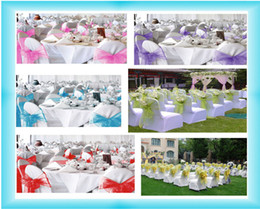 Wholesale New Wedding Organza Chair Cover Sashes Bow Sash Party Decorations