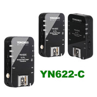 Wholesale 3pcs YONGNUO TTL Transceiver YN C Wireless E TTL Flash Trigger YN622 For Canon EOS DSLR
