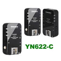 al por mayor yongnuo gatillo 622c-3pcs YONGNUO TTL Transceptor YN-622C E-TTL inalámbrico disparador de destello YN622 1/8000 para Canon EOS DSLR