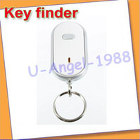 Wholesale Register LED Key Finder Locator Find Lost Keys Chain Keychain Whistle Soun