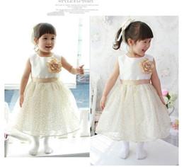 New ! children's solid dress girl's Princess dresses chiffon dress 4pcs 1lot children's white skirt A08