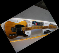 Wholesale 20130109 EMS TELE Yellow strings Natural wood Electric guitar sell in the lowest