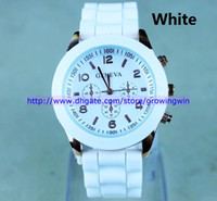Wholesale 50pcs Shadow Unisex Geneva Quartz watch fashion men s rubber candy jelly silicone watches
