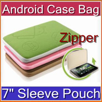 Wholesale A13 Inch Sleeve Pouch Soft Case Bag With Zipper Android Icon Logo For Android Tablet PC Computer