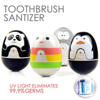 Wholesale Cute UV Toothbrush Sanitizer Sterilizer Holder Tooth brush Cleaner nice gift for your lover or child