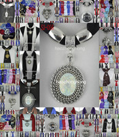 Wholesale pendant scarf jewelry with beads Mixed Design amp color scarves charms cross necklace DHL Free