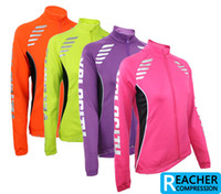 Wholesale women winter warm up skins running Excercise cycling bike bicycle sports Clothing jacket wear
