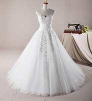 Wholesale Sweetheart Neckline Ball Gown Bridal Gown Corset And Tulle Wedding Dresses Lace Cathedral Train