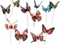 Wholesale Butterfly Flower Stick Flower Stake Wedding Decoration Garden Decoration