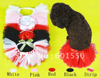 Wholesale colors Cute Dancing Dog Tattered Tulle Tutu For Small Dog S M L Puppy ballet skirt Pets skirt
