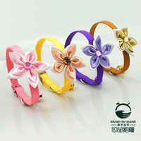 Wholesale colors Lively Dog amp Cat Double Layer Petals with Diamond Collar