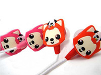 Wholesale i Mitch Cartoon Fox Y962 In Ear Headphone Headset Mixed Colors With Retail box