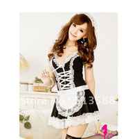 Wholesale The sexy lingerie sexy lolita maid maid outfit maid service KTV princess skirt nightclubs DS costume