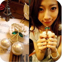 Wholesale Cute big Imitation pearl cherry pendant necklaces antique jewelry wll x32