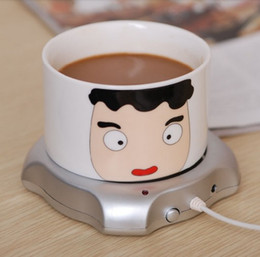 Wholesale 50pcs RA New Port USB Hub Tea Coffee Beverage Electric Cup Mug Warmer Heater Pad for PC Laptop