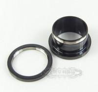 Wholesale mix mm size stainless steel piercing jewelry screw black flesh tunnel ear tunnel plug
