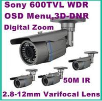 Wholesale WDR Weatherproof M IR Security Camera TVL D DNR BLC OSD menu x digital zoom mm lens