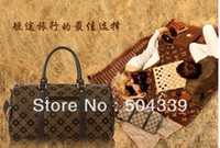 Wholesale Big Jacquard Satchel Handbag for Men and Women Causal Shoulder Bags Lover s Travelling Barrel lm1626