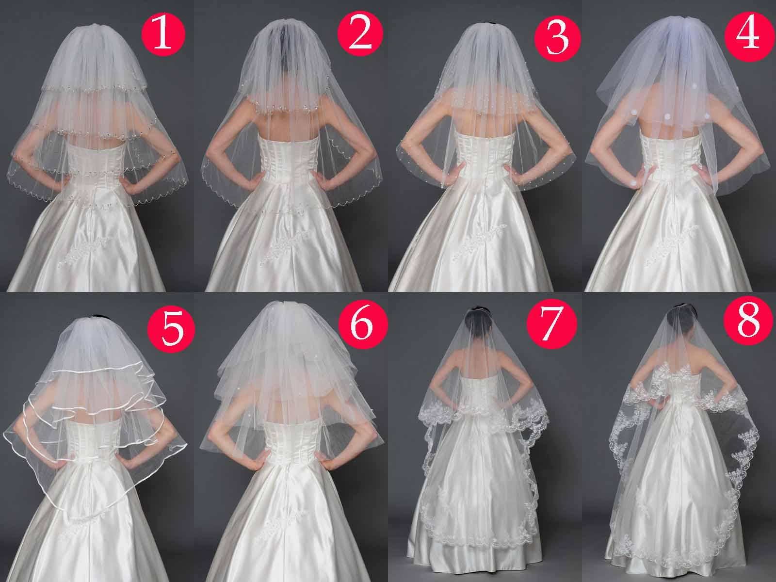 Get Cheapest Bridal Veils 8 Style White Ivory Tulle Wedding Dresses Veil Bridal Hair With V Deal