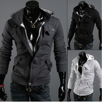 Wholesale Korean version of the spring new men s fashion casual Slim personalized sweater men s coat