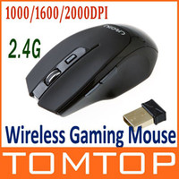 1000 2.4Ghz Wireless 3D Best Selling!2.4G 2.4GHz Optical Gaming Wireless Mouse 1000 1600 2000DPI 6 Buttons ,Free Shipping+Dr