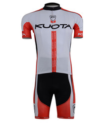 2013 KUOTA TEAM RED&WHITE CYCLING WEAR SHORT SLEEVE CYCLING JERSEY AND SHORTS SET SIZE:XS-4XL