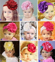 Wholesale Big flower hair band children baby hair modelling tire see things flower hair band
