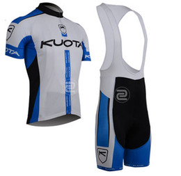 2013 KUOTA TEAM BLUE&WHITE CYCLING WEAR SHORT SLEEVE CYCLING JERSEY KIT + BIB SHORTS A026 SET SIZE:XS-4XL