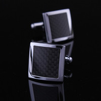 Wholesale Black carbon fiber cufflinks cufflinks shirt cufflinks cuff men s genuine foreign