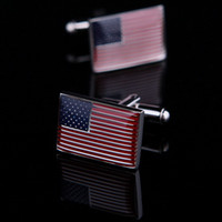 american french nails - Min american flag French shirt sleeve male paint cufflinks nail sleeve