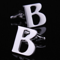 b cufflinks - Hot selling hot selling new arrival letter b cufflinks French shirt sleeve cufflinks nail sleeve men