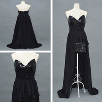 Reference Images Strapless Chiffon Hi-Lo Sequins lace Front Short Long Back Evening Peacock Prom Party Dress Gowns