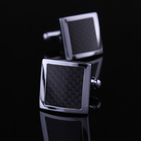 Wholesale Min Black carbon fiber cufflinks nail sleeve shirt sleeve button cuff