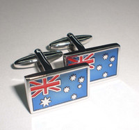australian flag cufflinks - Australian flag shape cufflinks men s cuff links