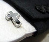 Wholesale Classical Cross style Shirt cuff Cufflinks cuff links drop shipping for men s gift