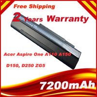 Wholesale 9 Cell high quality Laptop Battery FOR Acer Acer Aspire One A110 A150 One D150 D250 One ZG5 UM08A