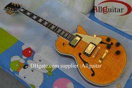 custom shop JAZZ Hollow yellow electric guitar New Style