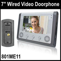 Wholesale inch Wired Video Door Bell Night Vision Waterproof pinhole Camera with Leds Unl