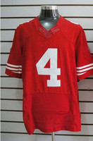Wholesale 2012 Elite American Football San Francisco Red Jerseys Rugby Jersey Mix Free Order