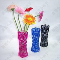 Wholesale pvc foldable plastic vase Small style random Home Decoration ctn