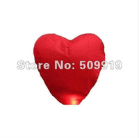 Cheap 5pcs Chinese Sky fire Red Heart Lanterns Wedding Birthday Wishing Balloon-FREE SHIPPING