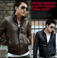 Wholesale new Korea men s jack pu leather jackets stand collar spring autumn man s jack