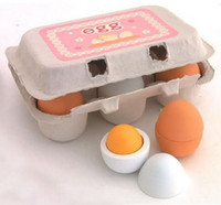 Wholesale 6pcs set Wooden Eggs Yolk Pretend Play Kitchen Game Food Cooking Children Toys Gift
