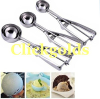 Wholesale Stainless Kitchen Ice Cream Scoop Cookies Dough Spoon Potato Masher cm