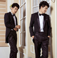 Reference Images Same as Image Autumn/Spring Custom Made to Measure POPULAR BLACK TAILCOATS WITH SATIN PEAK LAPEL,BESPOKE Long Tail Wedding Tuxedo for men,Tailored bestmen suits for men