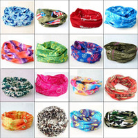 Wholesale Men Women Unisex Hair Wristband Balaclava Headscarf Scarf Cap Multi Functional Bandanas