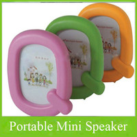 Wholesale USB Mini Portable Speaker Photo album MP3 PC Micro SD TF Stereo Loudspeaker ABS Plastic Music Player